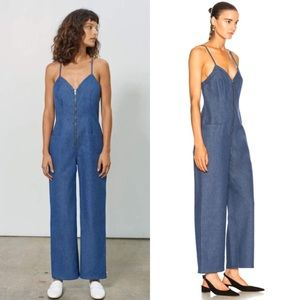 Mara Hoffman Blue Denim Halley Jumpsuit